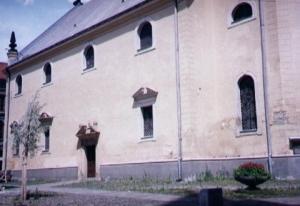 Chrám pred rekonštrukciou - pohľad zboku, zo západnej strany