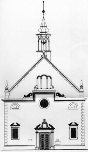 Chrám Sv. Trojice - schéma, severný pohľad