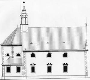 Chrám Sv. Trojice - schéma, východný pohľad