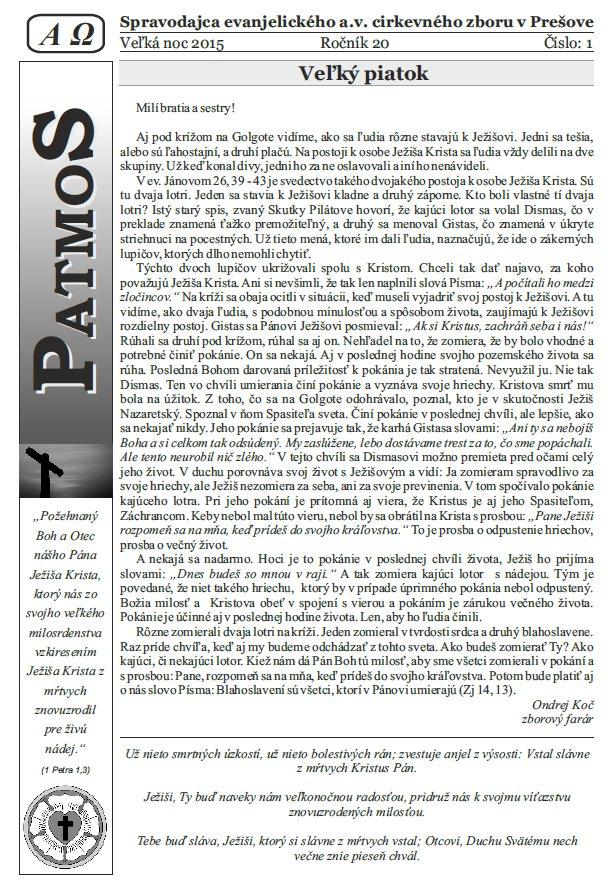 Časopis Patmos 2015-02