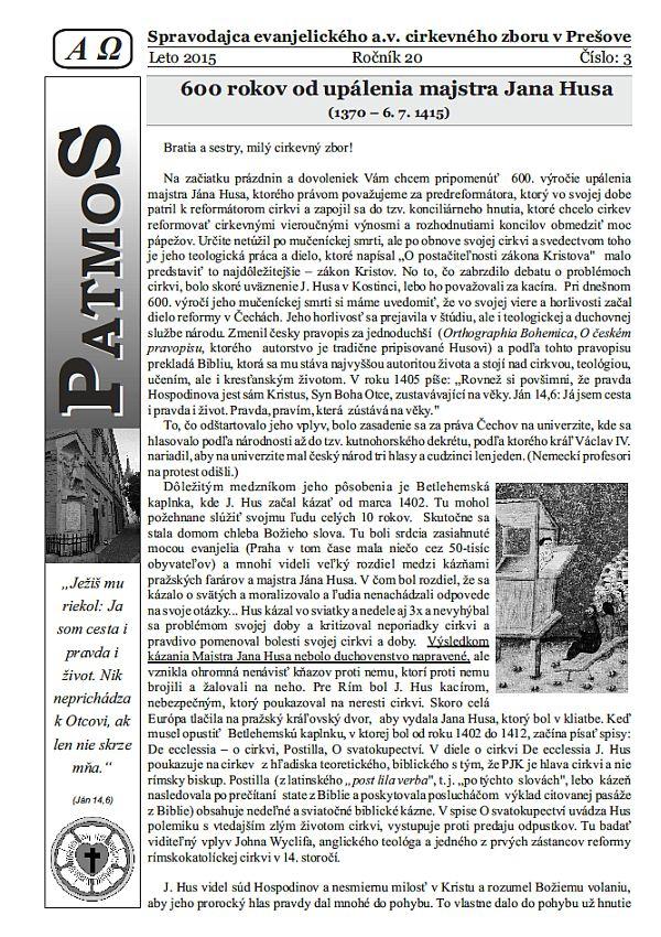 Časopis Patmos 2015-03