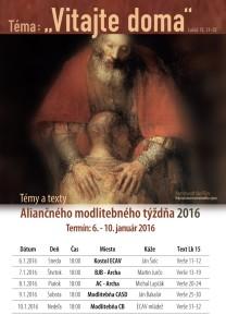Aliančný modlitebný týždeň - plagát