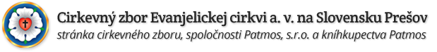 Cirkevný zbor Evanjelickej cirkvi augsburského vyznania na Slovensku Prešov Logo