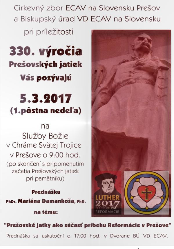 Prešovské jatky - 330. výročie